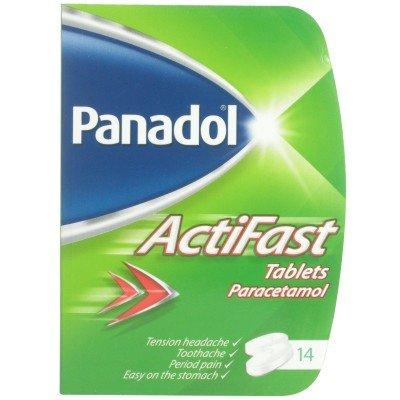 Panadol Actifast paracetamol 14 tablet pack @ 15p (Superdrug, Morpeth)
