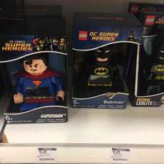 lego dc superhero clocks reduced to £6.25 from £24.99 @ boots instore only