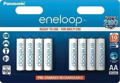 Panasonic Eneloop AA 8-Pack - 1900 mAh £11.39 @ Battery force