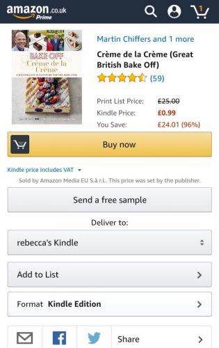Crème de la Crème (Great British Bake Off) 99p @ Amazon (Kindle)