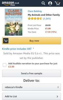 My Animals and Other Family £1.99 @ Amazon (Kindle)