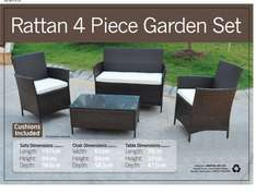 4-Piece All-Weather Rattan Furniture Set 83 % OFF Was £699 Now £119 + £29.99 delivery @ GoGoupie