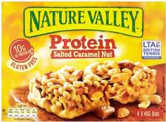 Nature Valley Protein Peanut and Chocolate Bars (4 x 40g) Half Price was £2.89 now £1.44 @ Tesco