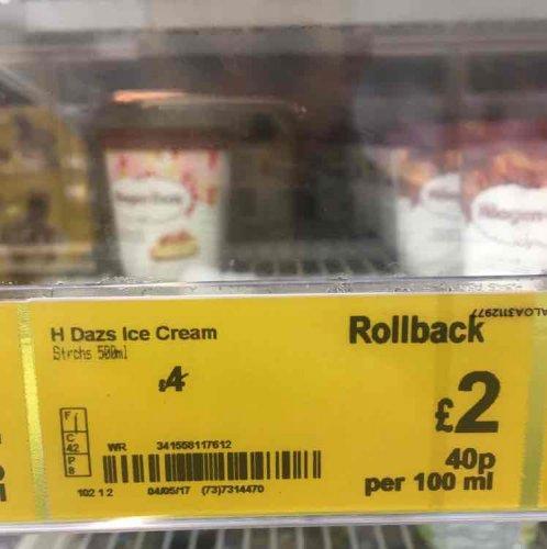 Haagen-Dazs ice cream £2 @ Asda