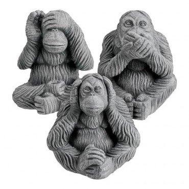Charlie dimmock ceramic monkeys (hear no evil, speak no evil, see no evil) £1 each at Poundland