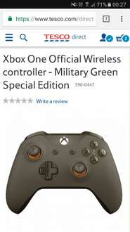 Xbox One Military Green Special Edition Controller and Tom Clancy's Ghost Recon Wildlands using code TDX-JHMW £49.99 @ Tesco Direct