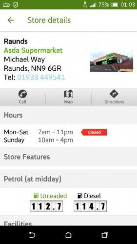Petrol. Best price. Northamptonshire. Raunds ds. New Asda - £1.13
