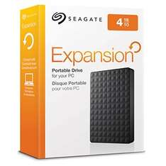 Seagate Expansion 4 TB USB 3.0 Portable 2.5 inch External Hard Drive - £109.99 @ Amazon
