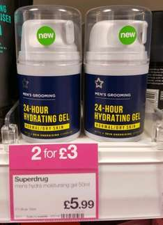 Men's moisturiser at Superdrug, 2 FOR £3