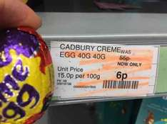 Cadbury creme egg at coop 6p (Mitcham)