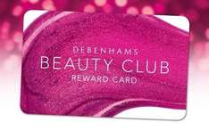 500 Debenhams Beauty Club points (worth £5) with  £4+ purchase.