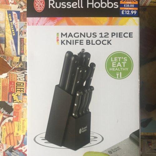 Russel Hobbs Magnus 12 piece knife block - £12.99 instore @ B&M