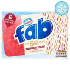 Nestle Fab Limited Edition Bday Cake Ice Lollies £1 @ Tesco online and in store 6X58ml