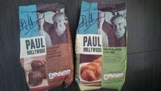 Paul Hollywood Belgian Chocolate Muffin, Twisted Plait Loaf, Garlic and Herb Tear Bread mixes 50p @ Home Bargains..selling for £1.89 in Tesco
