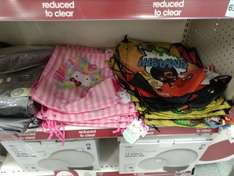 Angry Birds & Hello Kitty trainer bags £1.25 Wilko instore