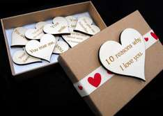 10 reasons why I love you, Personalised box sets 50% off! £5.23 @ eBay / thevoyagebird