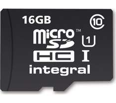 Micro SD card 16GB Class 10  £1 @ Curry's
