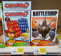 Hasbro Grab & Go Now Only £2.50 Each (Guess Who / Battleships) instore @ Tesco