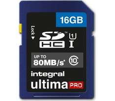 16GB 80MB/s Integral Ultima Pro SD card £4.99 @ Currys