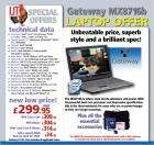 "Gateway Core 2 Duo T5300-1.73GHz, 17"" Ultra WXGA 2M, 2048M, DDR2, Vista Home Premium £283.60 including delivery @ IJT Direct"
