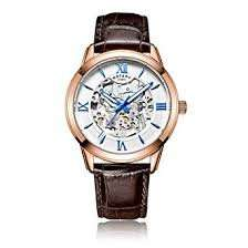 Rotary Men's Automatic Watch with Silver Dial Analogue Display and Brown Leather Strap - £60.33 @ Amazon