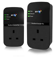 BT Broadband Extender Flex 500 Kit, Pass Through Powerline Adapters Twin Pack  £19.18  @ Amazon (Used - Like New from) Warehouse