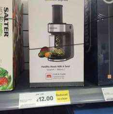 Morphy Richards Spiralizer £12 in store @ Tesco