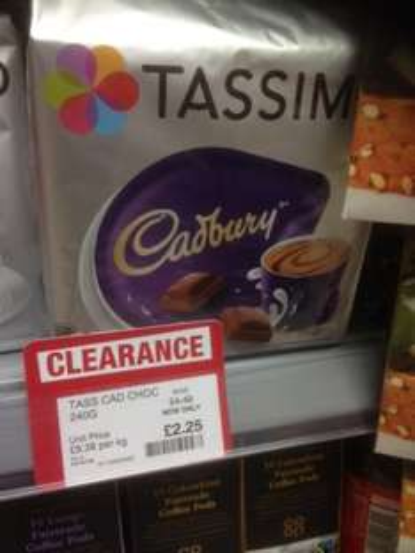 Tassimo - Cadburys Chocolate x 8 pods : Were £4.49 , now £2.25 @ Co-op