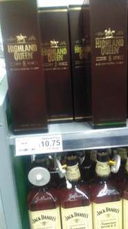 Highland Queen 8YO blended whiskey 70cl £10.75  down from £18.50 at asda INSTORE