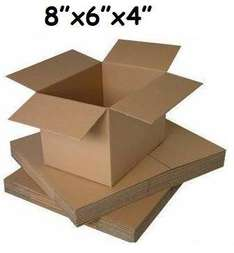 """100 x Single Wall Shipping Cardboard Boxes 8x6x4"""" £16.89 - 17p each + free delivery @ Amazon (Dispatched from and sold by PolyPostalBags.)"""