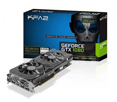 KFA2 GeForce GTX 1080 Exoc PCI-E Gaming Graphics Card, 8GB GDDR5, black £414.70 (483.21 Euros) Amazon.de