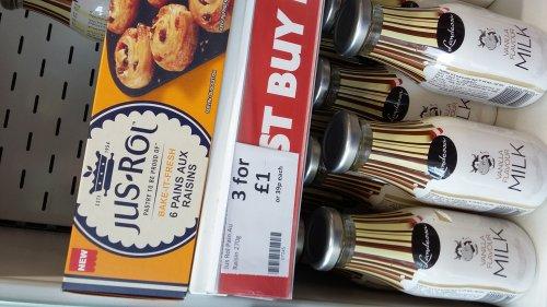 Just rol pain aux  raisins 3 packs £1 heron foods instore