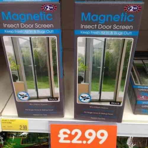 Magnetic insect Door Screen £2.99 @ b&m