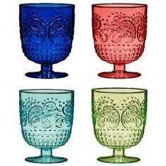 Drinking Goblets 4pk - Multi Colour  £3.99 @ B&M