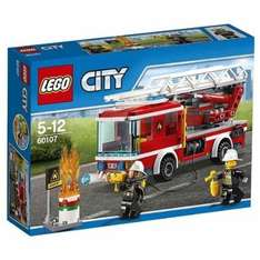 LEGO 60107 City Fire Fire Ladder Truck - Amazon - £8.35 (with Prime, £12.34 without)
