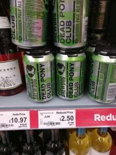 4x 330ml brew dog dead pony cans - £2.50 Asda instore