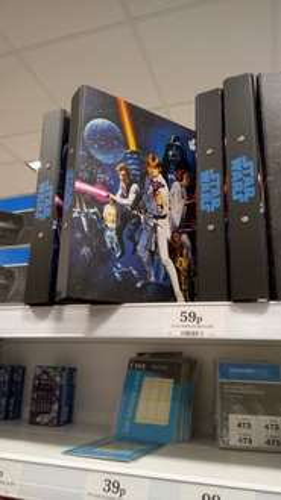 Star Wars ring binder in Home Bargains - 59p