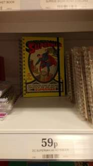 Superman A5 notebook in Home Bargains - 59p