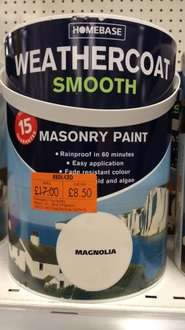 Homebase weather coat masonry paint - £8.50 instore @ Homebase Hatfield