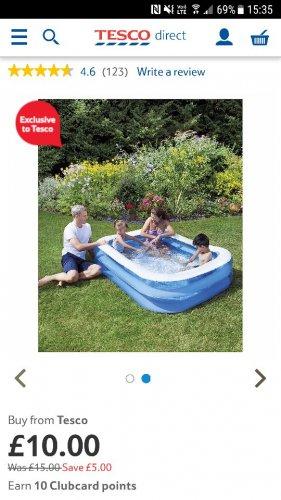 Tesco family pool only £10