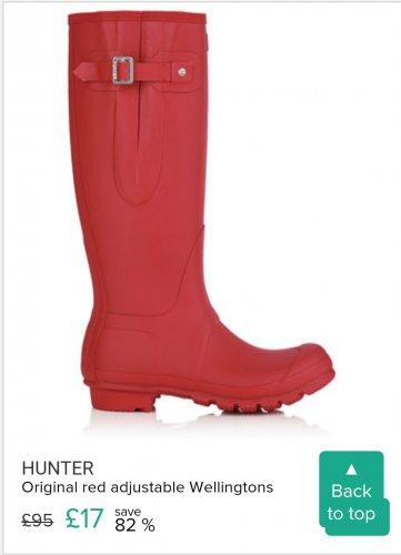 Hunter Men's Original Red Adjustable Wellies £17 / £22.95 delivered  SecretSales.com