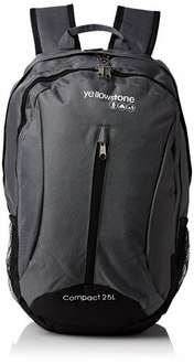 Yellowstone Compact Charcoal Backpack 25litres  £6.77 FREE Delivery Dispatched from and sold by Auto-Accessorize - Amazon