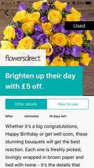 £5 off any bouquet at Flowers Direct using generic Wuntu code Flowers5 (Free delivery)