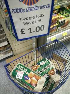 10 large eggs 50p Best Before: 18th May, B&M Fishponds Bristol