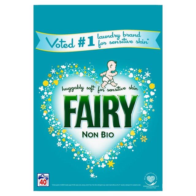 Fairy Non Bio Washing Powder 40 Washes 2.6Kg  £5.50 @ Tesco