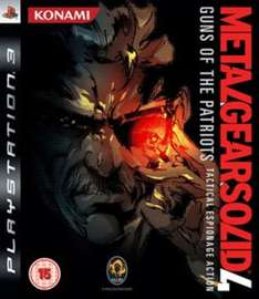 Metal Gear Solid 4 Pre Owned ps3 80p / £2.79 delivered @ Game (Sold and fullfiled by Fareham Game)