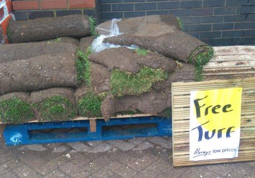 Free turf at Homebase - Wyvern retail park, Derby