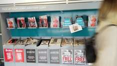 Free newspapers after departure lounge @ Gatwick Airport