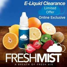 sale back on/ still on! eliquid vaping juices 6x30ml bottles for £20 with free delivery. high quality juices at Freshmist