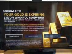 Xbox Live Gold Renewal (Xbox Dashboard) for £26.50